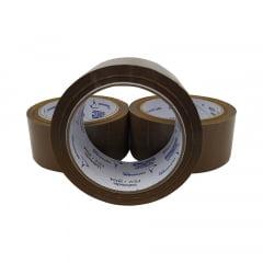 Fita adesiva larga 100m Marrom para embalagens caixas de papelão para loja virtual